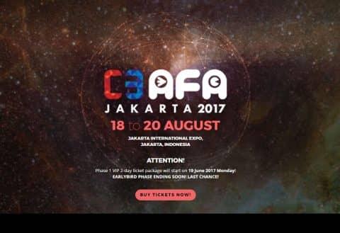 Menuju C3AFA Jakarta 2017, ini dia harga tiket masuknya